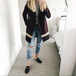 Three color block coat